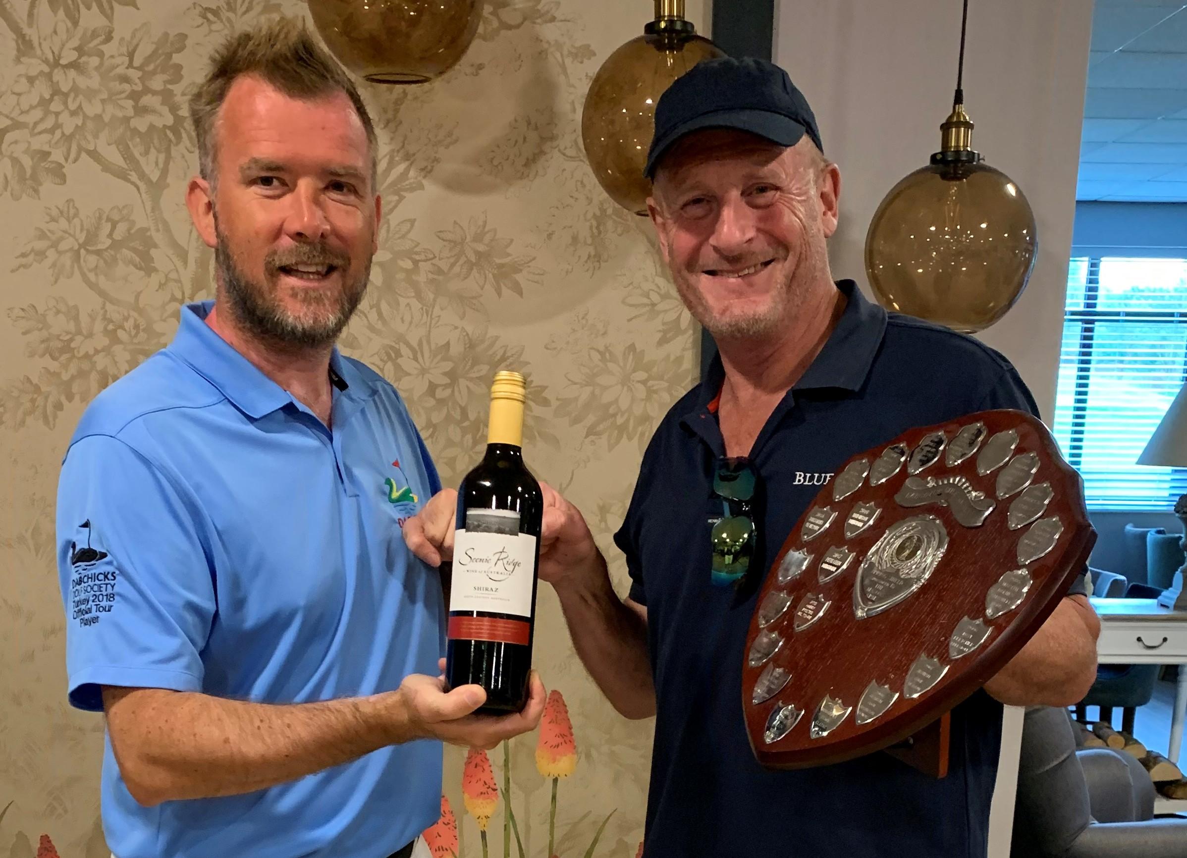 Simon Barrett, winner of Competition 1 of the Dabchick Goling Year