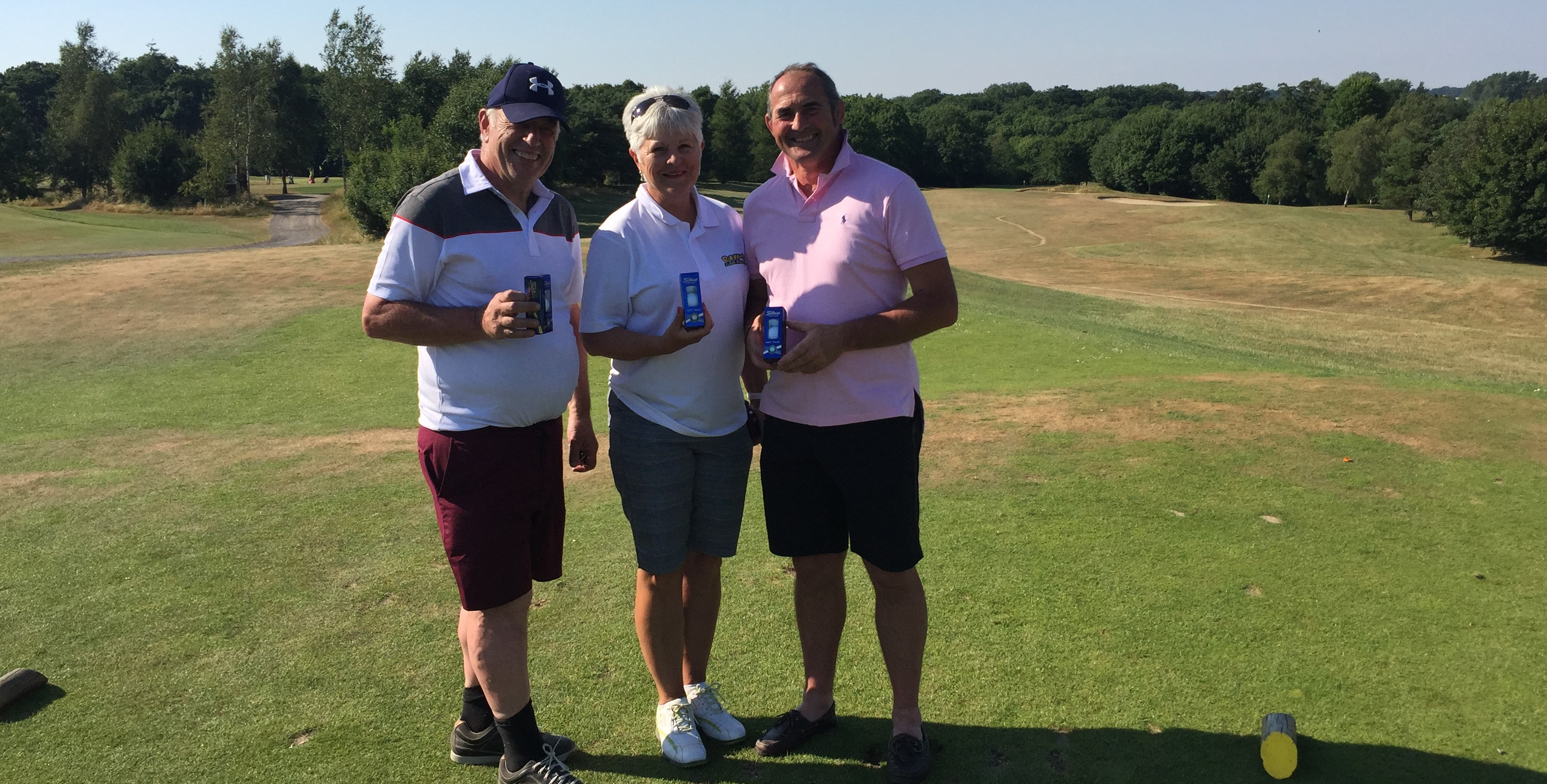 Alan Waters, Jenny Swift and Chris Padget - Our Par 3 challenge winners Cumberwell Park 2018