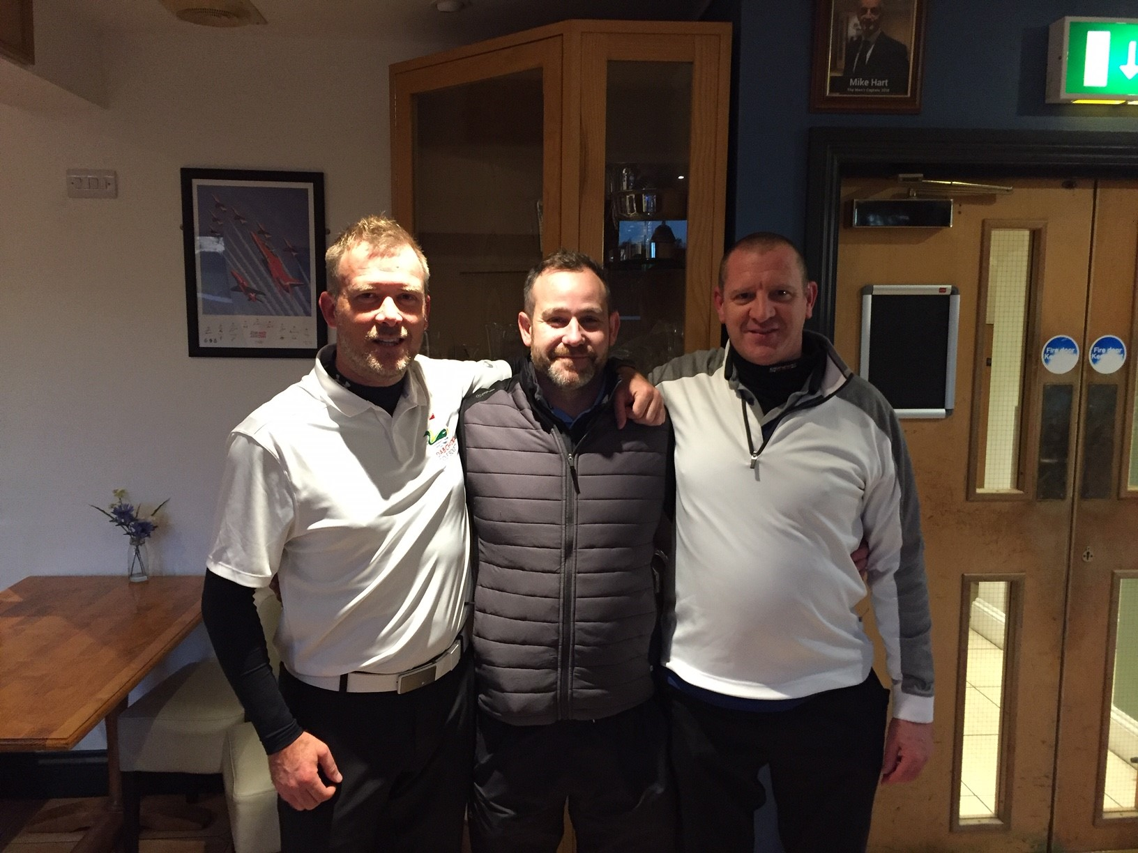 Dabchick Golf Society 2018 Winning Team - Captain, Dave & Harry